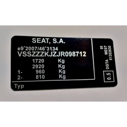 Plaque constructeur Seat