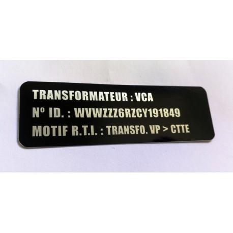 Etiquette de Transformation Aluminium - 3 lignes