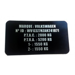 Etiquette constructeur Volkswagen